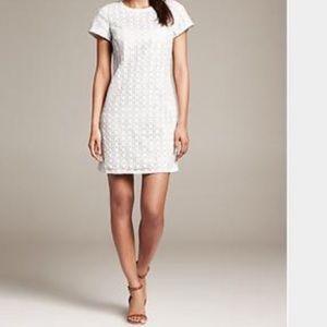 Kate Spade white eyelet shift dress